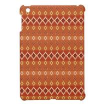 Native American Western Beaded Look iPad Mini Rust iPad Mini Case
