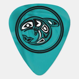 Native American Whale Guitar Pick