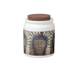 "Native American:""Wisdom"" Candy Jar"