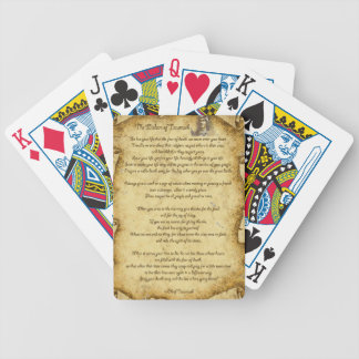 Native American Wisdom of Chief Tecumseh Bicycle Playing Cards