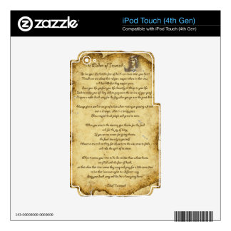 Native American Wisdom of Chief Tecumseh Decals For iPod Touch 4G