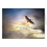 Native American Zodiac Sign of the Hawk Card