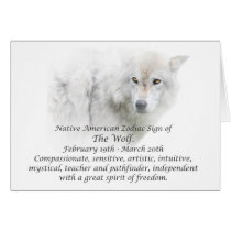 Native American Zodiac Sign The Wolf Card