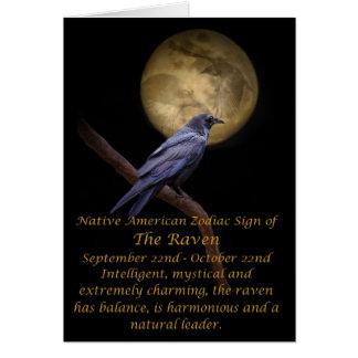 Native American Zodiac The Raven Greeting Card