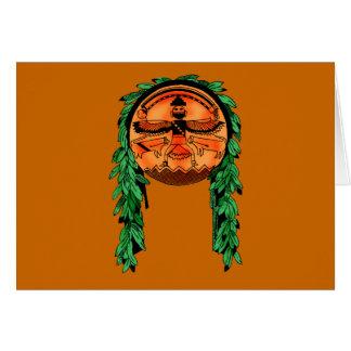 Native American Zuni Shield Greeting Card