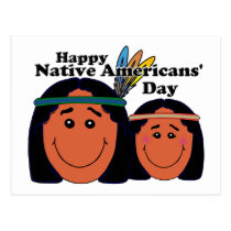 Native Americans' Day Postcard