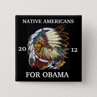 Native Americans for Obama 2012 Pinback Button
