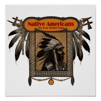 NATIVE AMERICANS For Over 10,000 Years Poster