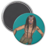 Native Americans Magnet 3 Inch Round Magnet