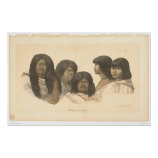 Native Americans of California (0685A) Poster