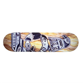Native AmericanTotem Pole Skateboard