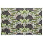 native armadillos green fabric