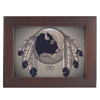 Native Art Box Metis Spirit Animal Art Jewelry Box