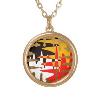 Native Art Necklace Modern Four Tribal Necklace