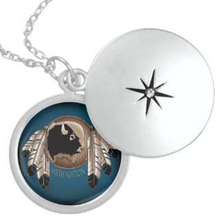 Native Art Necklace Spirit Buffalo Metis Jewelry