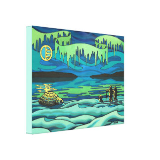 Native Art Painting Print Inuit Love Canvas Prints