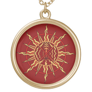 Native Art Sun Necklace Life Force Necklace