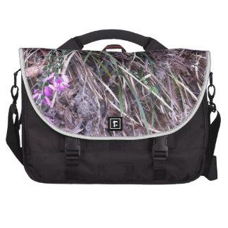 Native Australian wild grasses in flower Laptop Messenger Bag