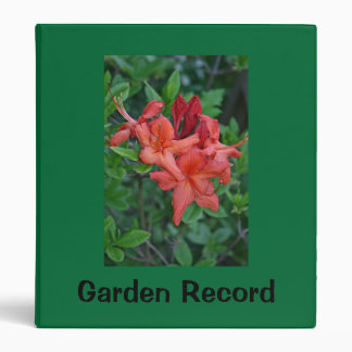 Native Azalea Binder Garden Record