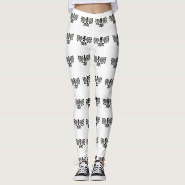 Aztec Themed Native Aztec Bird ~ Black and White pattern. Leggings