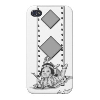 Native baby on blanket in day dream. iPhone 4/4S case