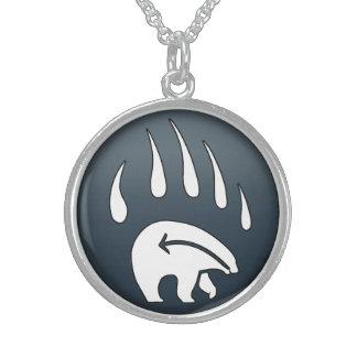 Native Bear Necklace Tribal Wildlife Art Jewelry