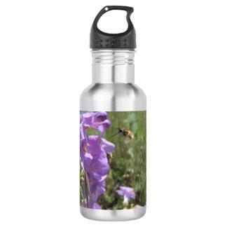 Native Bee and Penstemon Water Bottle