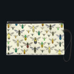 "Native Bees Wristlet<br><div class=""desc"">Colorful native bee pattern for anyone who loves bees of all shapes,  sizes,  and colors!</div>"