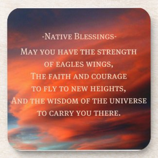 Native Blessings corkcoaster