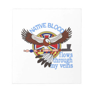 Native Blood Notepad
