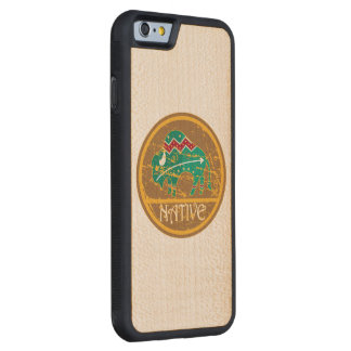 Native Buffalo Painting Carved Maple iPhone 6 Bumper Case