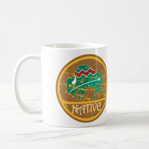Native Buffalo Painting Coffee Mug