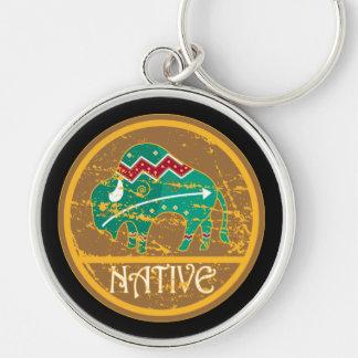 Native Buffalo Painting Key Chain