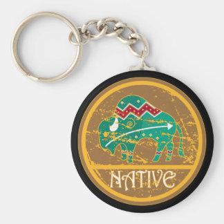 Native Buffalo Painting Keychains
