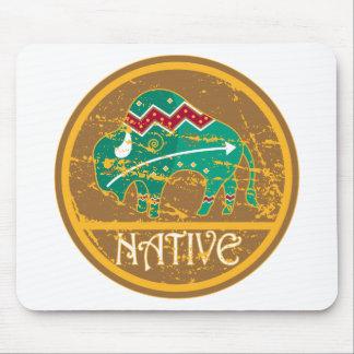 Native Buffalo Painting Mouse Pad