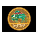 Native Buffalo Painting Postcards