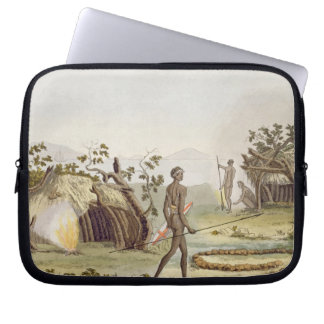 Native cabin, New Holland, plate 64 from 'Le Costu Laptop Sleeve