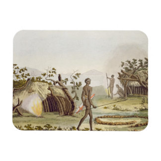 Native cabin, New Holland, plate 64 from 'Le Costu Magnet