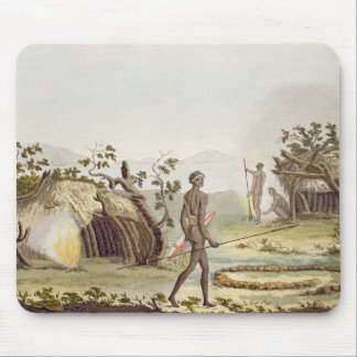 Native cabin, New Holland, plate 64 from 'Le Costu Mouse Pad