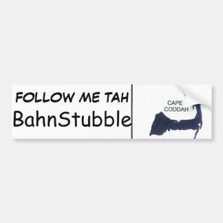 Native Cape Coddah BahnStubble Bumpah Stickah Bumper Stickers