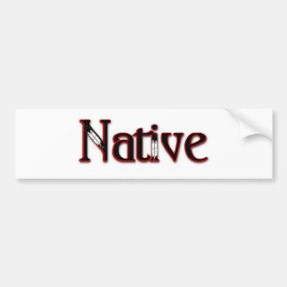Native Car Bumper Sticker