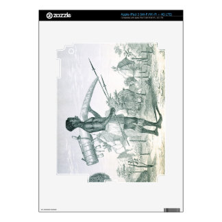 Native carrying a decorated ivory elephant tusk, f skin for iPad 3