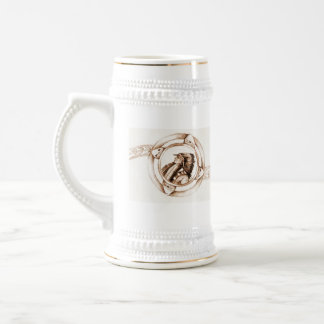 Native Chief Illustration Stein Coffee Mugs