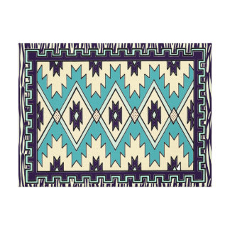 Native Chief Pattern Stretched Canvas Print