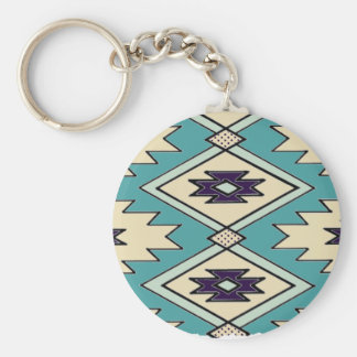 Native Chieftain Pattern Keychain