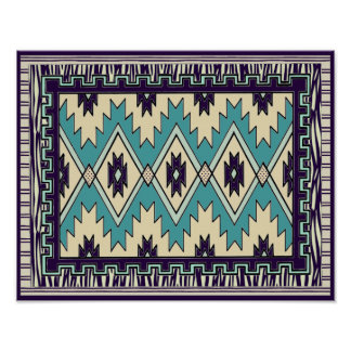 Native Chieftain Pattern Poster Print