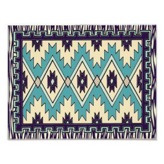 Native Chieftain Pattern Wall Print