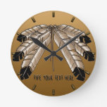 Native Clock Custom First Nation Tribe Wall Clock