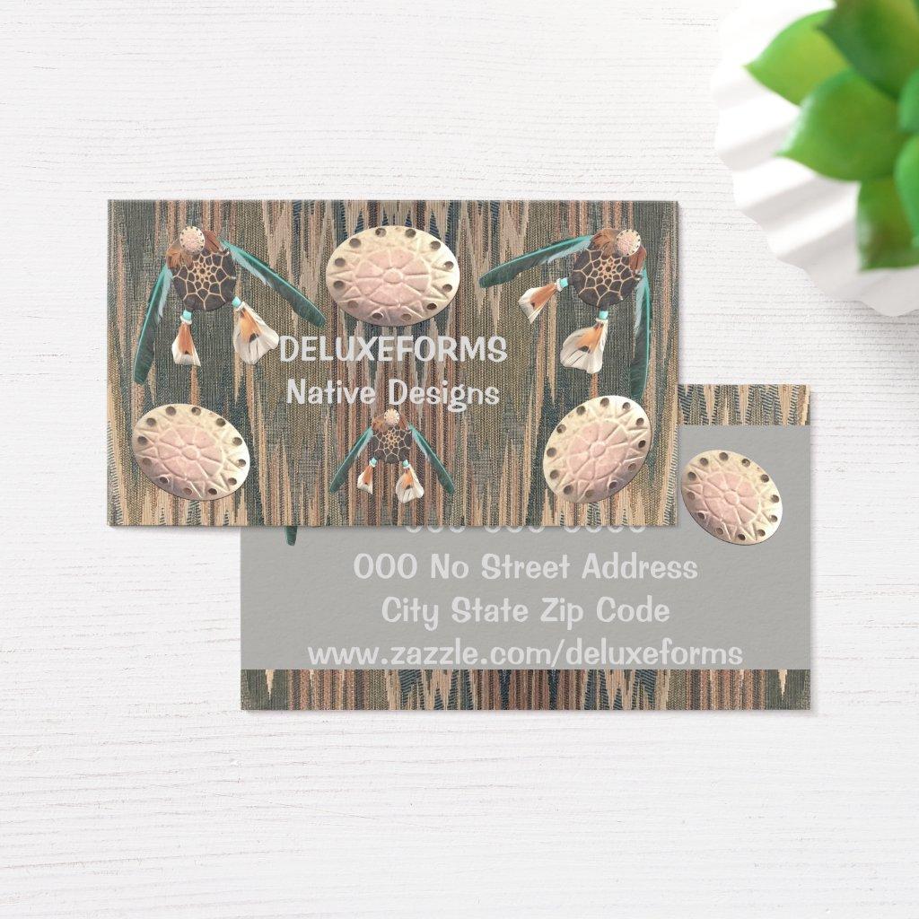 Native Cod Grey Dollar Business Card