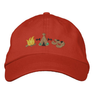 Native Collage Embroidered Baseball Cap